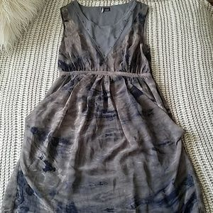 Navy and Grey Dress with Stud Accent Size Medium